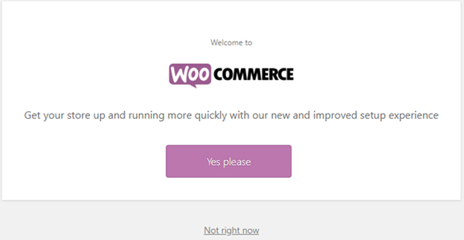 woocommerce automatic setup