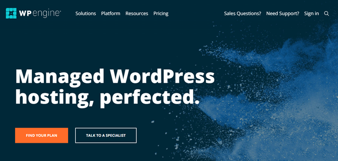 wp engine hosting for small business