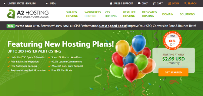 a2 web hosting for bloggers