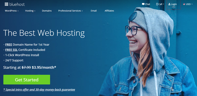 bluehost web hosting for photographers