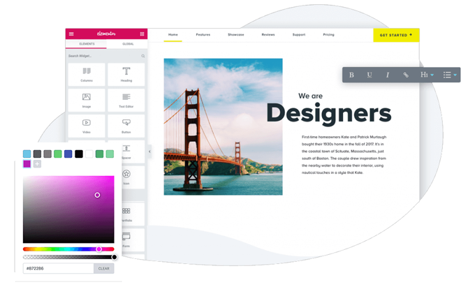 customize predesigned theme