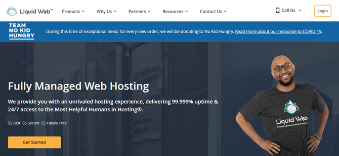 liquid web hosting for food blogs