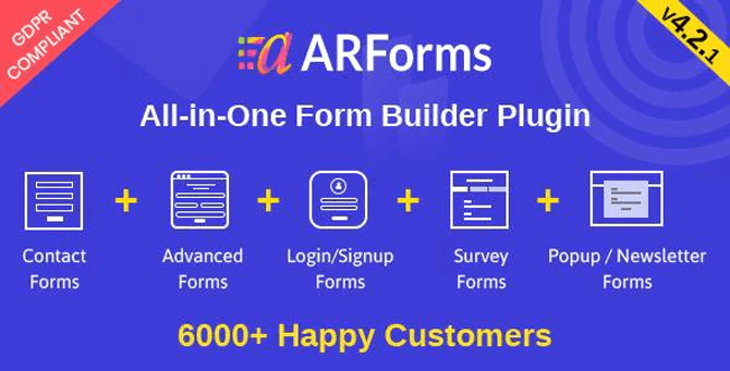 arforms all in one form builder plugin