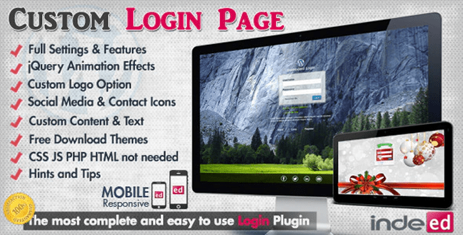 custom login theme page wordpress plugin