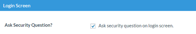 enable the security question
