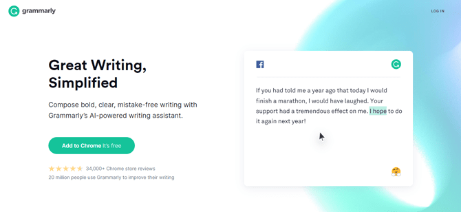 grammarly blog content tool