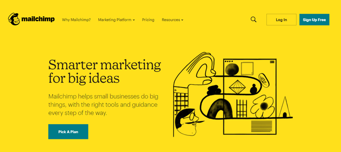 mailchimp email marketing tool for bloggers