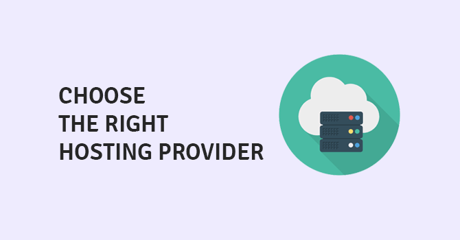 choose the right hosting provider