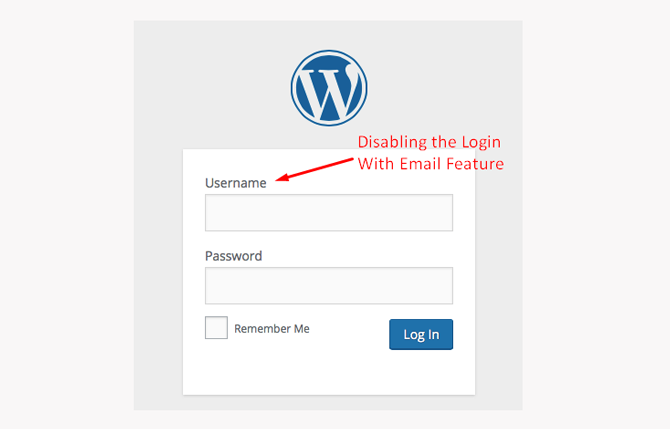 disabling the login with email feature