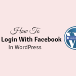how to add login with facebook in wordpress