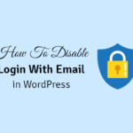 how to disable the login with email address feature in wordpress