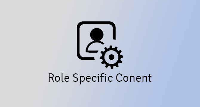 role specific content