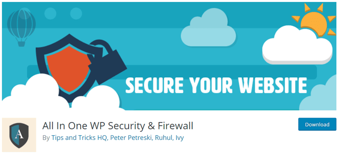 all in one wp security and firewall wordpress plugin