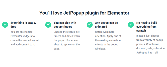 get started with jetpopup plugin
