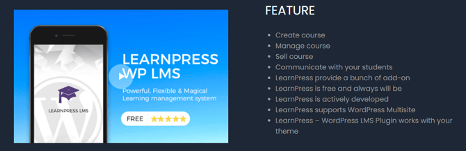 learnpress features