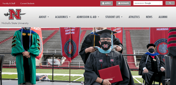 nicholls state university website