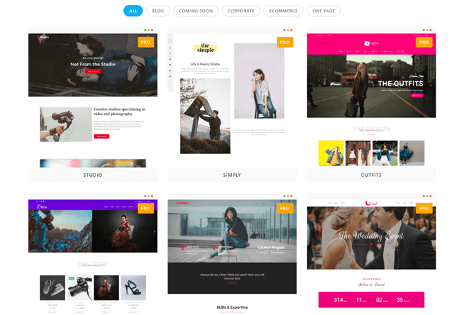 oceanwp premade layout and template