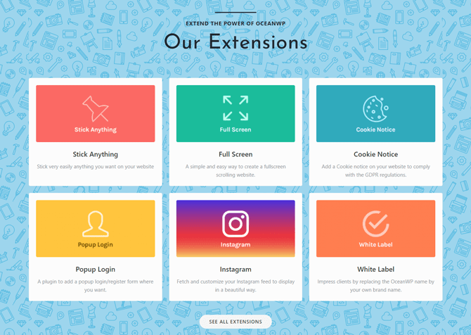 oceanwp theme extensions