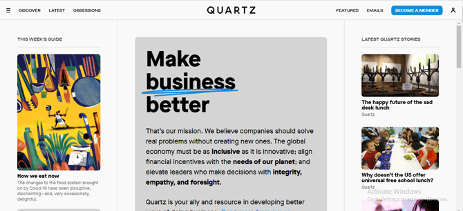 quartz magazine website