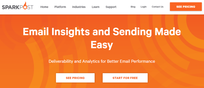 sparkpost analytics and delivery platform