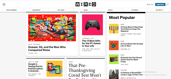 wired magazine website