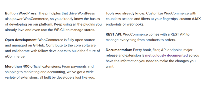 woocommerce key features