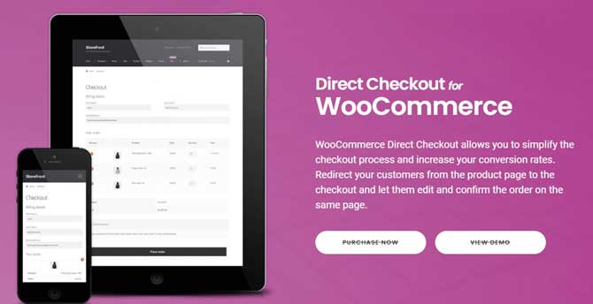 woocommerce direct checkout