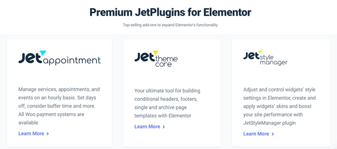 jetelements addons and plugins