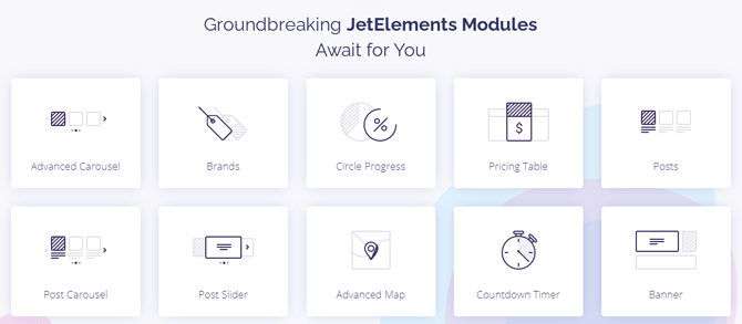 jetelements features and modules