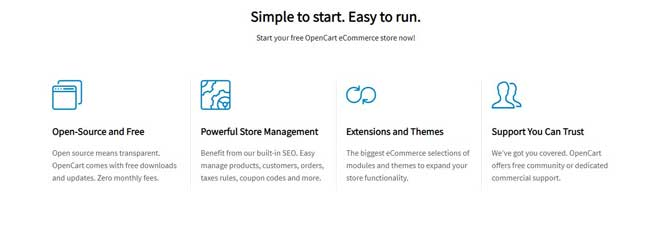 opencart features