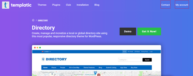 the directory theme