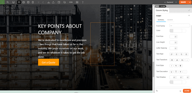 frontend and backend website building