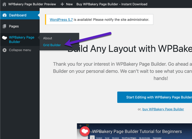 wpbakery grid builder