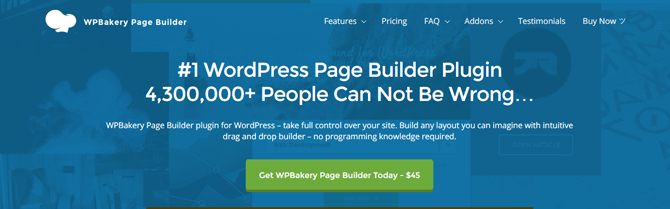 overview of wpbakery