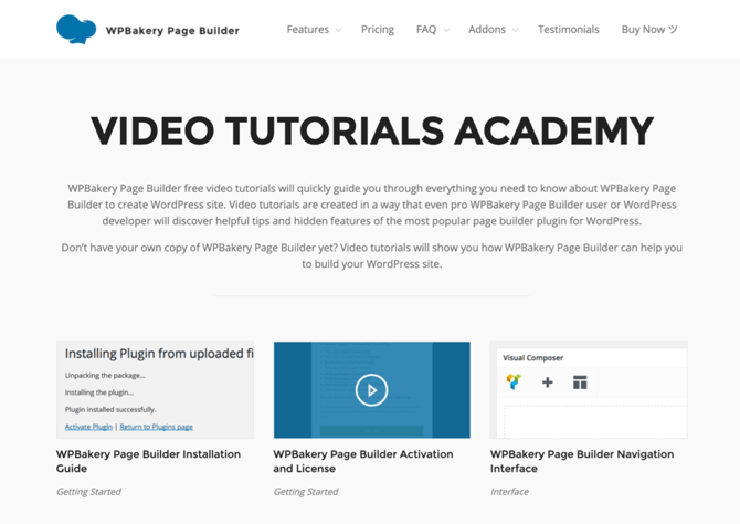 wpbakery video academy