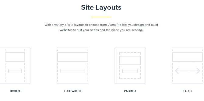 astra pro site layout