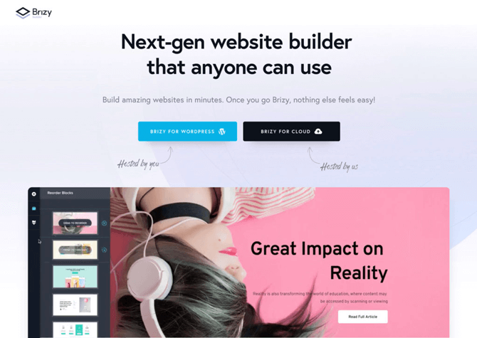 brizy page builder features