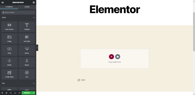 import templates with elementor