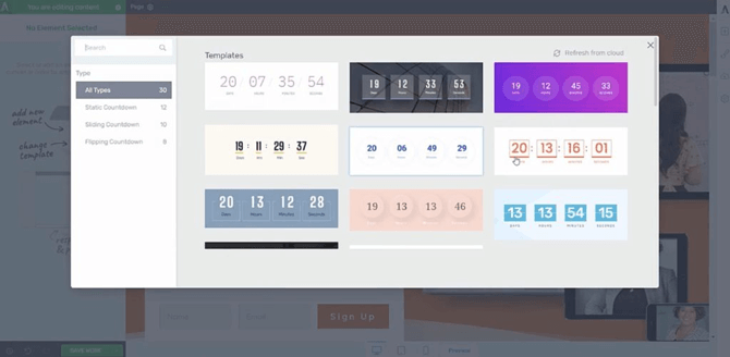 thrive architect countdown timers