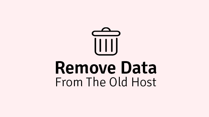 remove data from the old host
