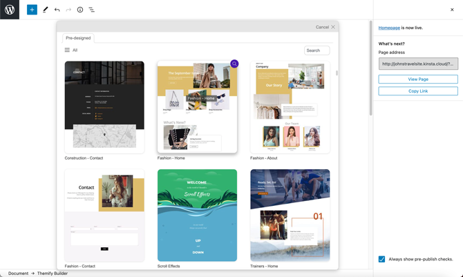 templates for theme