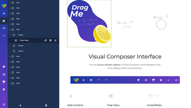 visual composer page building experience
