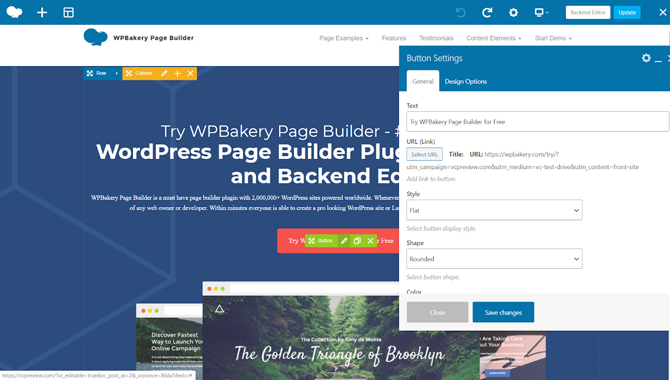 wpbakery page building experience